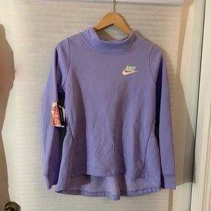 Nike girl's purple sweatshirt xl NWT